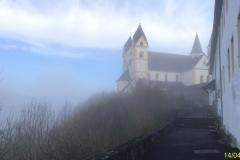 Kloster Arnstein im Morgennebel